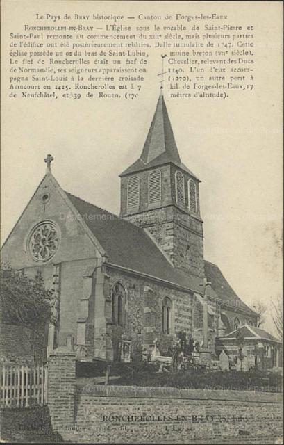 CPA église de Roncherolles-en-Bray