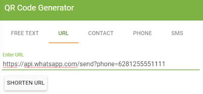 Cara Membuat QR Code Whatsapp Menuju Chat Langsung