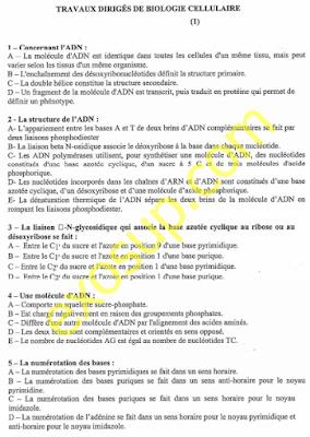 travaux dirigés de biologie cellulaire pdf svt s1