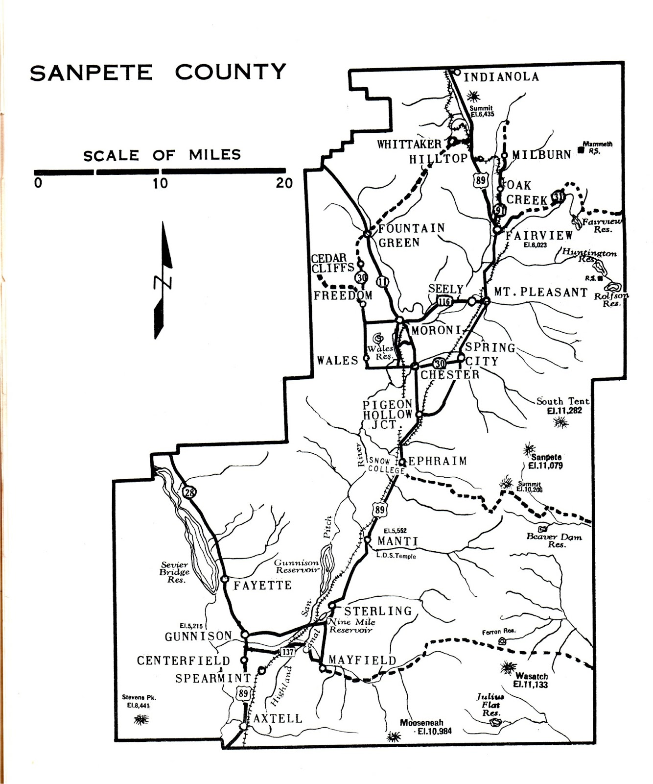 Sanpete County Utah Map.Mt Pleasant Pioneer 6 1 13 7 1 13