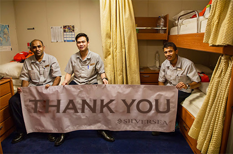 Silversea Crew will receive support with Donations by Loyal Cruisers