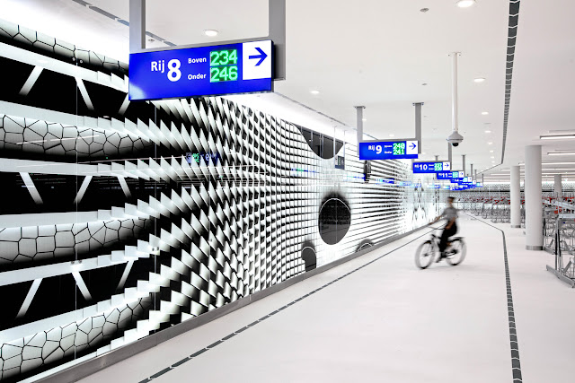 bicycle parking garages in the Netherlands