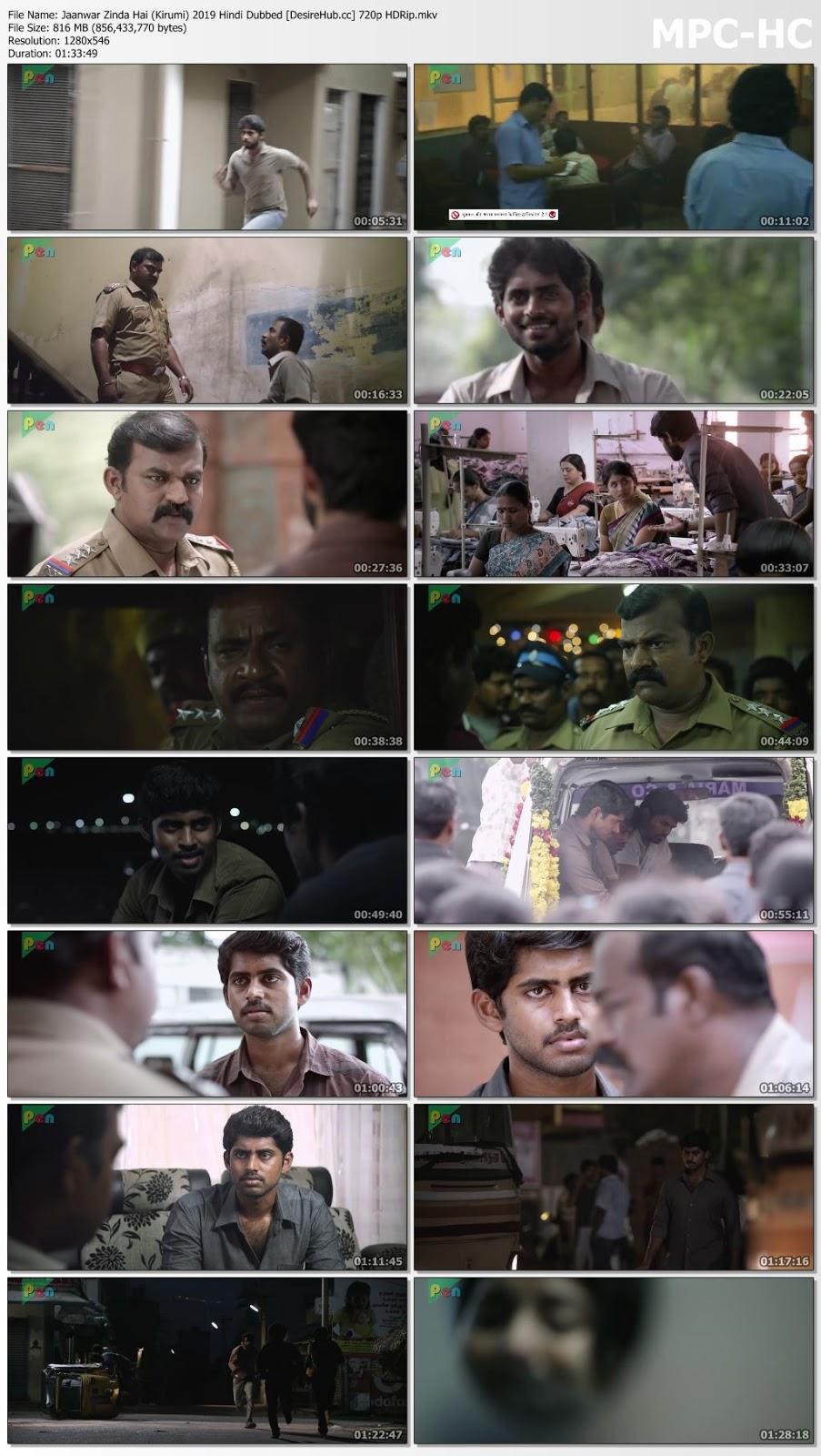 Jaanwar Zinda Hai (Kirumi) 2019 Hindi Dubbed 720p HDRip 800mb Desirehub