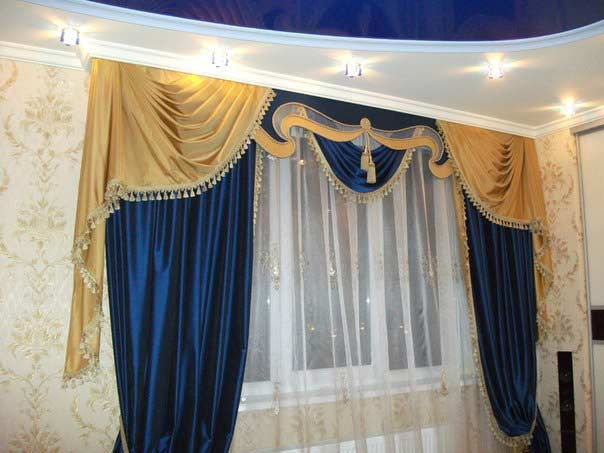 The best hall curtains designs and ideas 2018 living room for 3 window curtain design