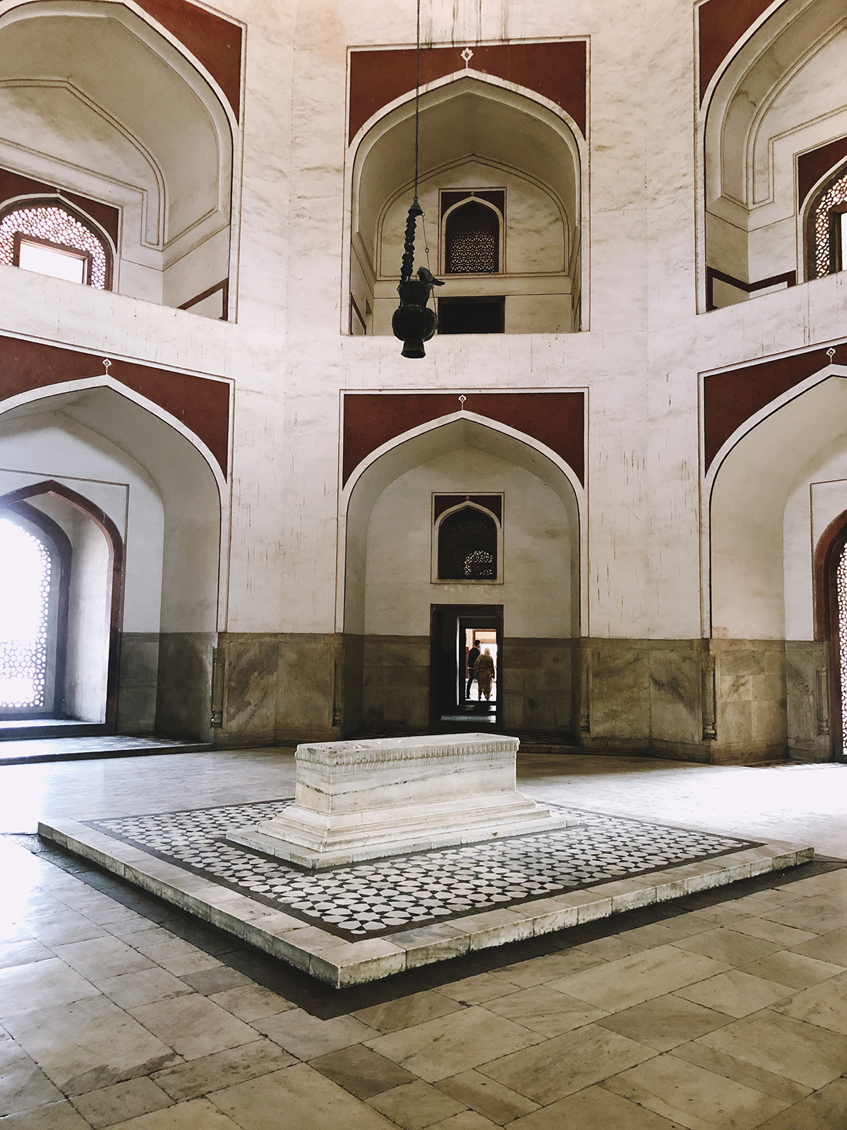 Marble interior of Humayun's tomb