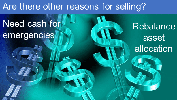 Are there other reasons for selling a stock?