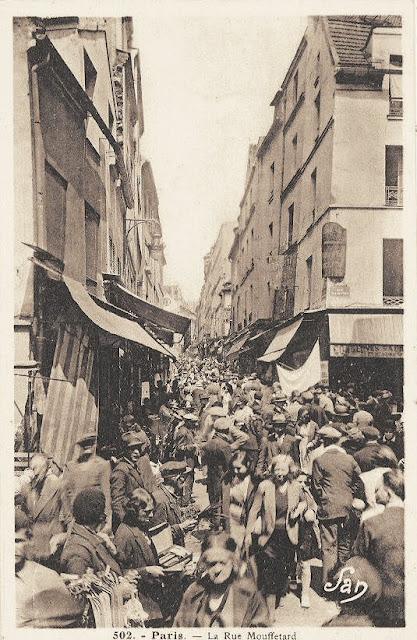 La rue Mouffetard vers 1930