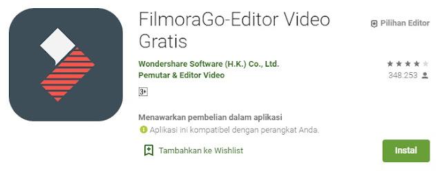 Aplikasi FilmoraGo - Masbasyir