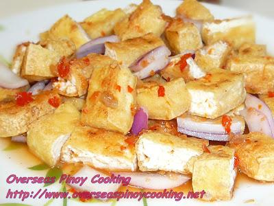 Firm Tofu with Pinakurat Vinegar