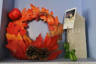 Inspiracje na Halloween jesienny wianek diy