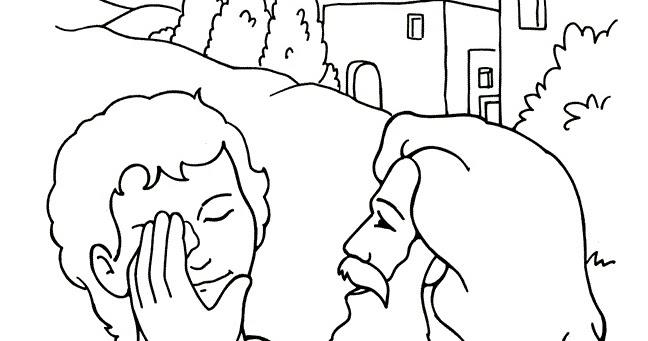 Lujo Jesus Cura Al Ciego Para Colorear Imágenes - Ideas Para ...