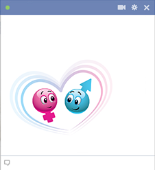 Pink and blue smileys