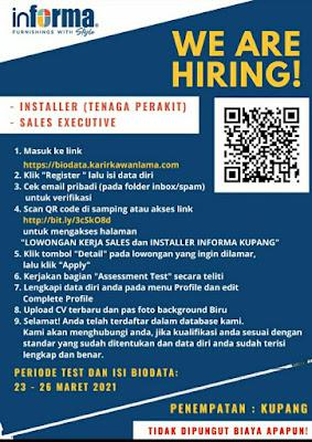 Lowongan Kerja Informa Kupang