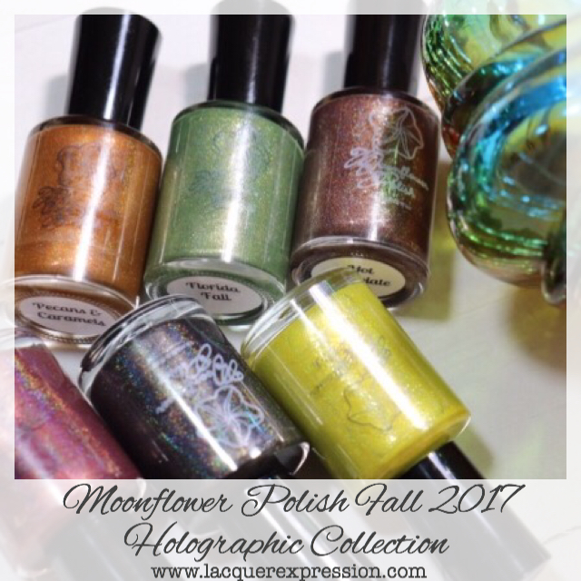 Nail polish collection of Holographic polishes for Fall 2017 by Moonflower Polish