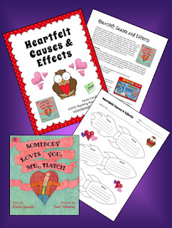 Heartfelt Causes and Effects is a literacy lesson with free printables to use when reading one of my favorite books, Somebody Loves You Mr. Hatch. Having kids fill out the rocket-themed Cause and Effect graphic organizer is a great way to teach them how their words and actions affect others. Perfect Valentine's Day activity!