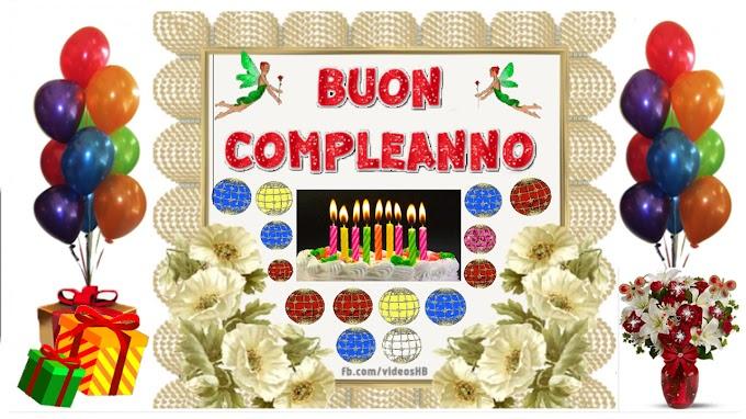 Biglietto di auguri di compleanno, torta, fiore
