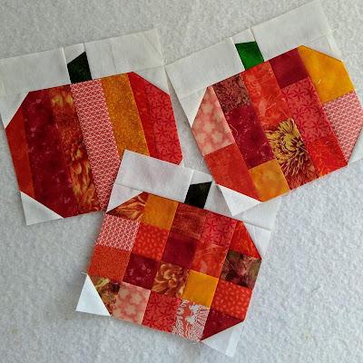 3 patchwork pumpkin blocks