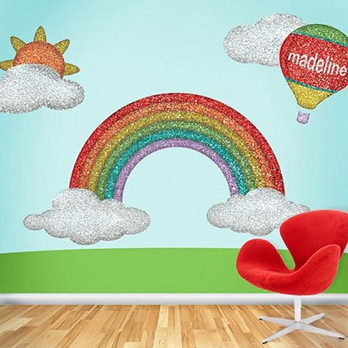 Rainbow Theme Bedrooms   Rainbow Bedroom Decorating Ideas   Rainbow
