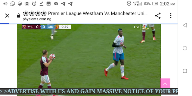 ⚽⚽⚽⚽ Premier League Westham Vs Manchester United Live Streaming ⚽⚽⚽⚽