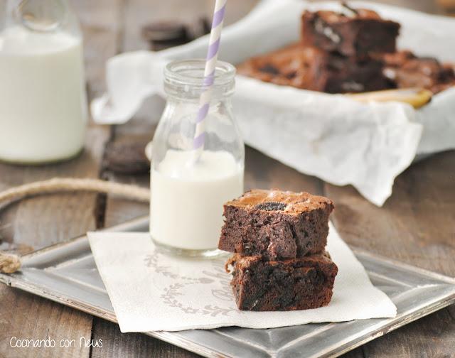 Brownie de galletas Oreo