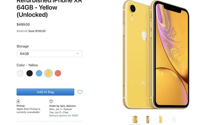 Apple started selling renewed copies of the iPhone XR