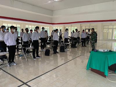 Sebanyak 59 Orang Mahasiswa Baru AKN Di Gembleng Oleh Dandim 0105/Abar