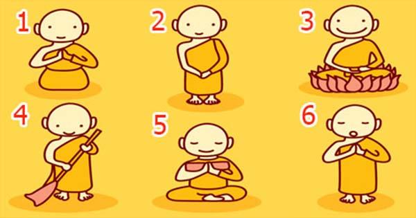 Elige a monje budista y descubre un increíble mensaje
