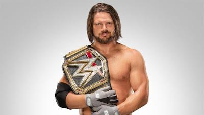 A J Styles WWE Champion Pic