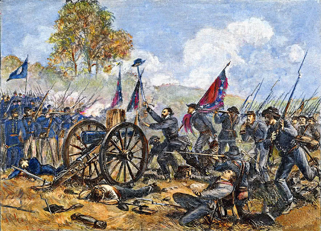 drawing of Pickett's charge from wpclipart.com
