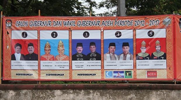 Saling Bakar Bendera Partai di Pidie Warnai Pilkada Aceh