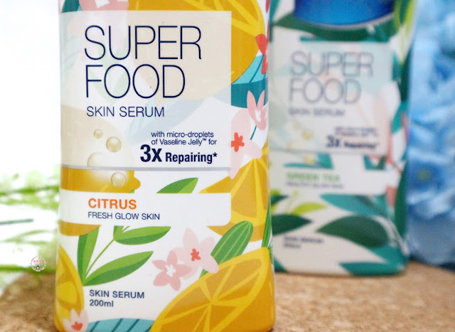 Vaseline SUPER FOOD Skin Serum Packaging