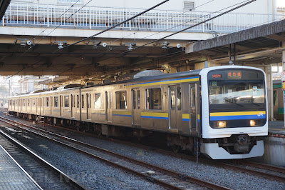 成田駅停車中の209系