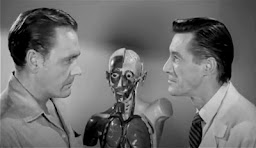 John Carradine and Myron Healey in The Unearthly (1957)