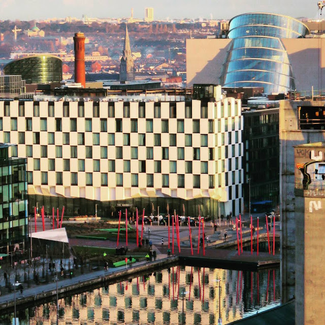One Day in Dublin Itinerary: View of Grand Canal Dock from Above