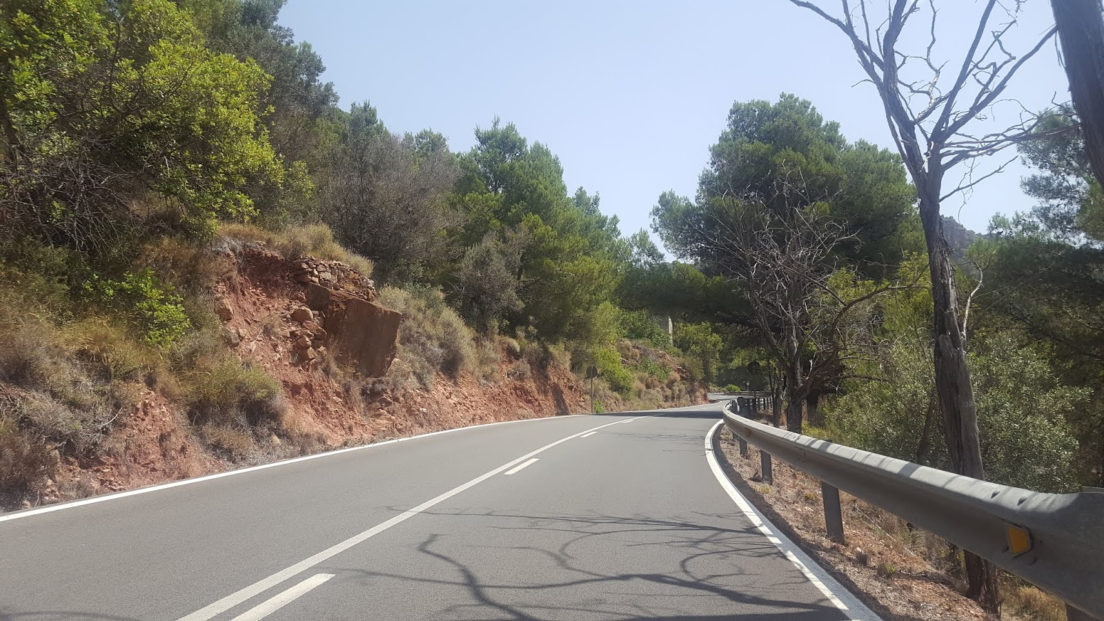 Road near the summit of l'Oronet, Valencia, Spain