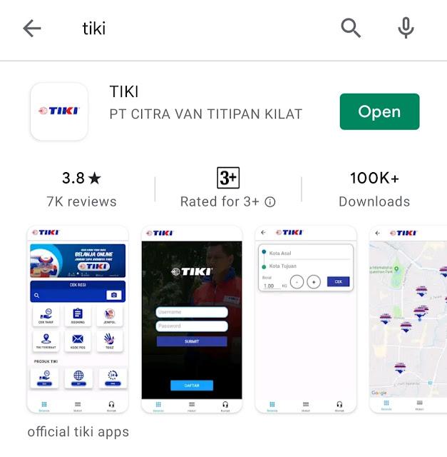 Aplikasi tiki mobile