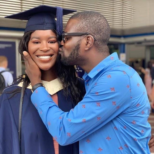 Photos: JJC Skillz's daughter graduated from the UK University
