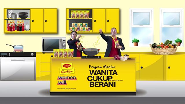 Resipi Berani Maggi, Reality TV Series, Pogram Mentor Wanita Cukup Berani MAGGI, PMWCBM, MAGGI Malaysia, Bengkel Online, Google's Women's Will, Food