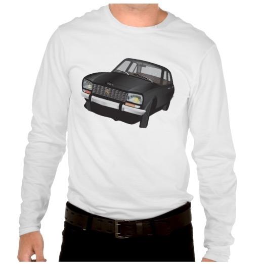 Automobiles Peugeot 504 shirts paidat skjortor