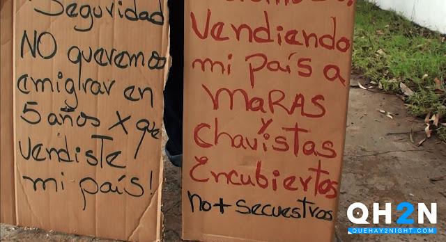pancartas contra venezolanos en panama