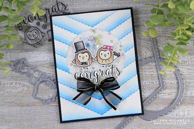 Wedding Shaker Card by Juliana Michaels featuring Happy Owls Stamp and Die Set by Pretty Pink Posh