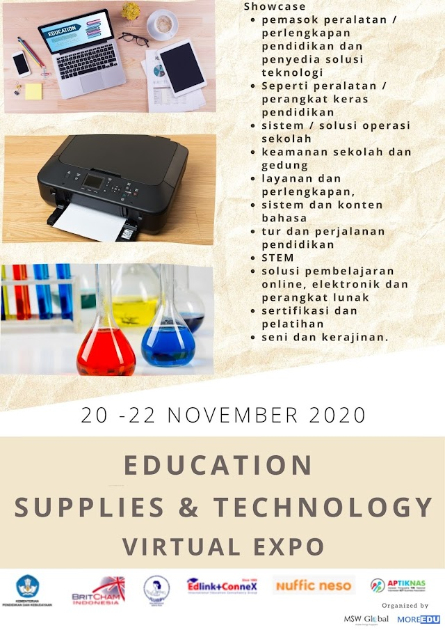 Indonesia Education Supplies & Technology Virtual Expo - 20-22 Nov 2020