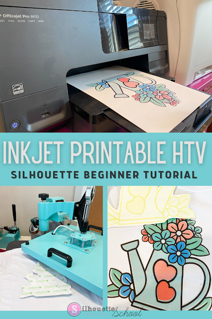 silhouette 101, silhouette america blog, print and cut, printable heat transfer paper, printable material