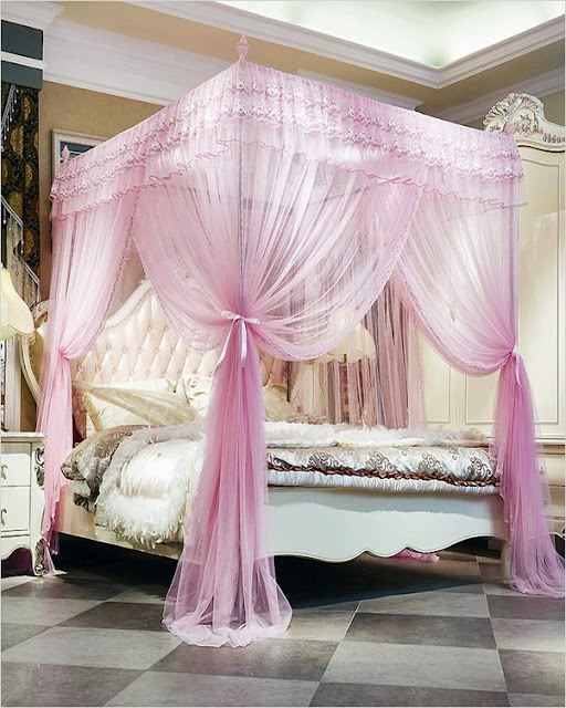Canopy Bed CURTAINS Queen | Home Interior Exterior Decor ...