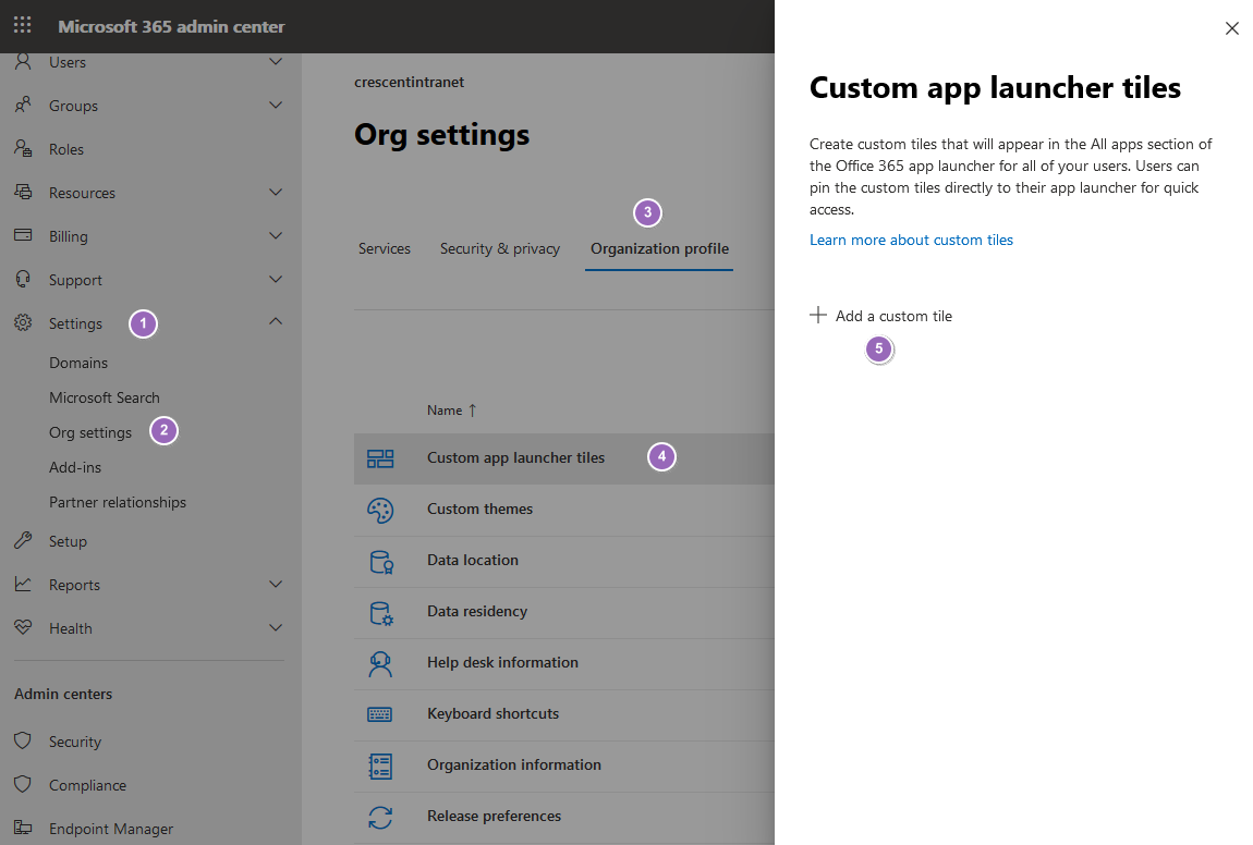 customizing the sharepoint online app launcher