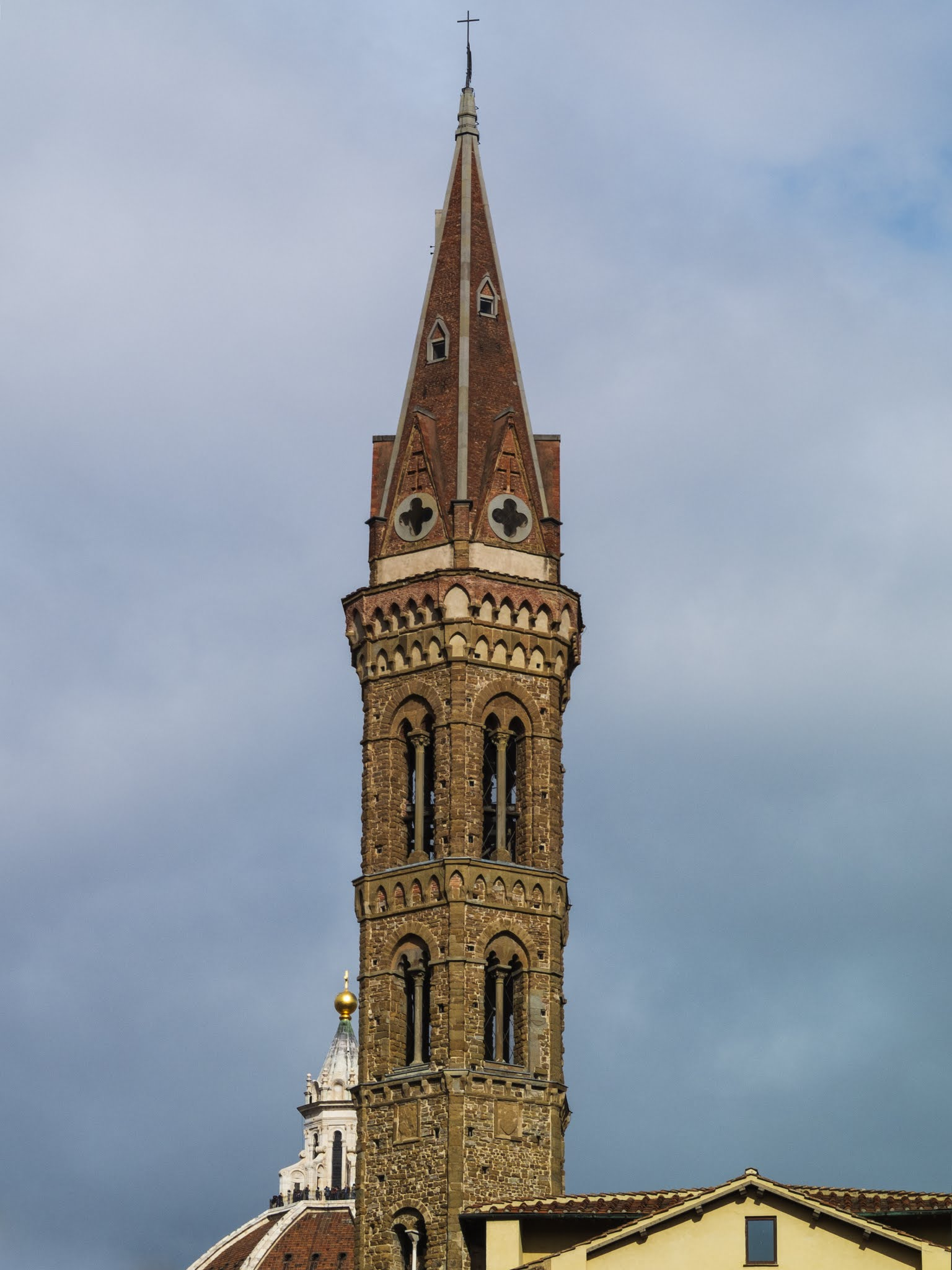 View of  Badia Fiorentina - Monastero tower in Florence