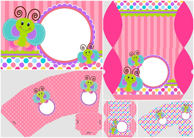 Funny Butterfly: Boxes and Free Printable Invitations.