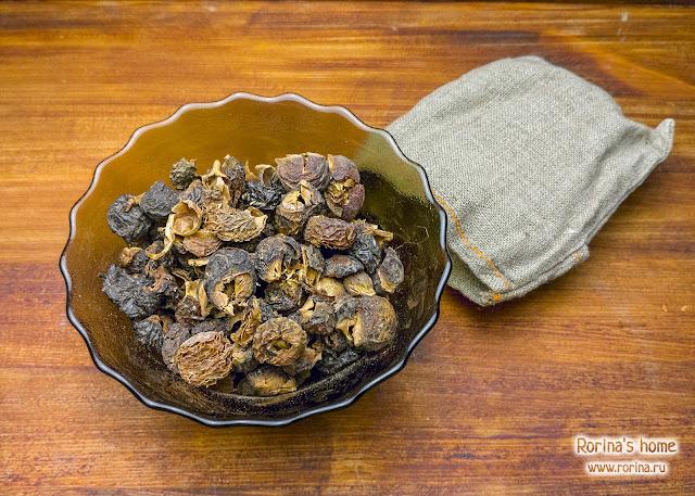 Плоды сапиндуса из мочалки