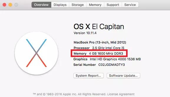 Mac Ver RAM instalada