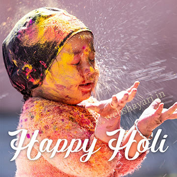 cute happy holi status